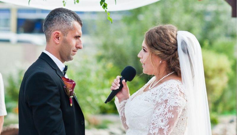 Ehegelübde, die Braut spricht