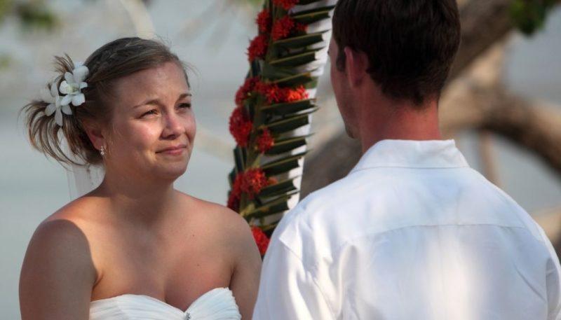 Das Eheversprechen schreiben ist das eine, Zuhören das andere