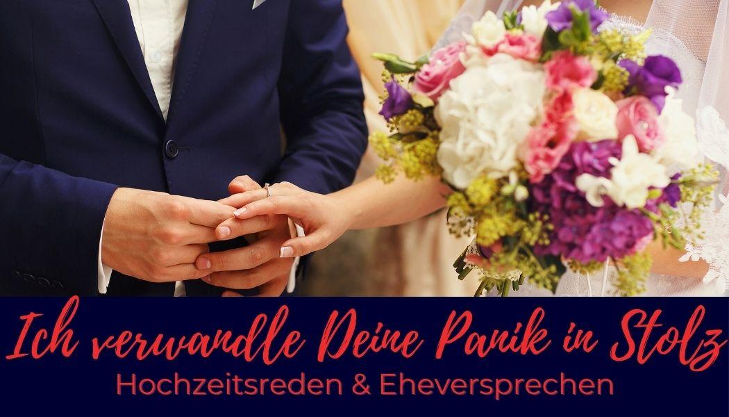 Ohne Panik zu Hochzeitsrede und Eheversprechen